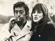 Unknown/Michael Webb - Serge Gainsbourg and Jane Birkin - 1970s