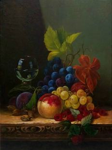 Sergei Sokirsky (*1976) - Still life with grapes