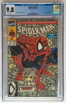 Marvel Comics - Spider-Man #1 Regular Edition - CGC Graded 9.8 - Extremely High Grade!- Story & Art Todd McFarlane - 1x sc - (1990)