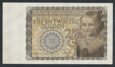 Netherlands - 25 guilders 1940 - Little Princess - mevius 77-1