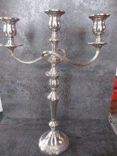 Candle holder Sterling Silver 3 arm prelude, USA 1939