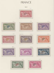 France 1900-1931 - Complete Merson-type collection including Yvert number 122.