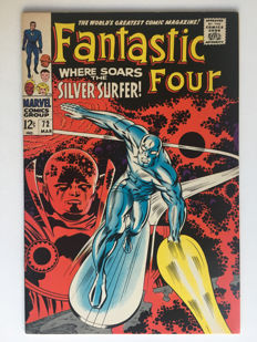 Marvel Comics - The Fantastic Four #72 - Silver Surfer cover/story pre-dates Silver Surfer #1 - Very High Grade!!- 1x sc - (1967)