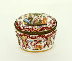 Antique Erotica Porcelain Jar With Lid By Carl Thieme of Potschappel