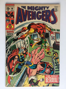 Marvel Comics - The Avengers #66 - 1st mention of Adamantium metal! - 1x sc - (1969)