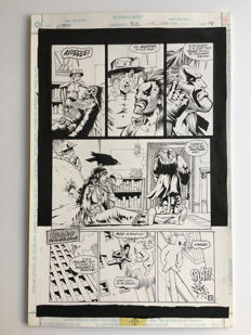 Carl Critchlow - Original Art Page -Pen & Ink - Lobo #32 - Page 14 - (1996)
