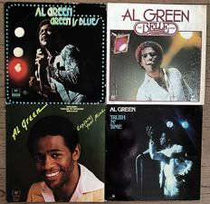 "Al Green: lot of four lp's ""Green is blues"" ""Explores your mind""  ""The belle album"" and  ""Truth n time"""