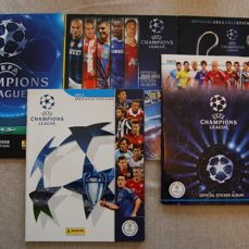 Panini - Champions League 07/08 + 10/11 + 11/12 + 12/13 + 13/14 - 5 Empty albums.