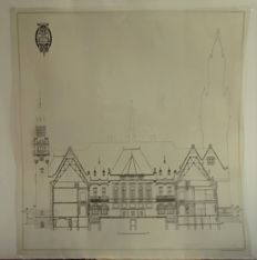 Peace Palace in The Hague - 4 immigraphs - 1909