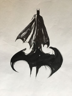 George Pratt - Original Sumi Brush Drawing Of Batman - (1999)