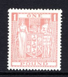 New Zealand 1936/39 - £1 Postal Fiscal, Stanley Gibbons F119