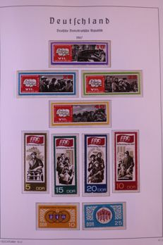 GDR or East Germany 1967/1984 - Complete collection in two Leuchtturm preprint albums