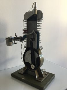 Functional two-stroke diesel engine cross-section model from 1970