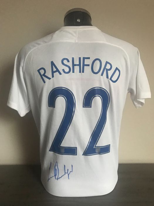 new style 168f6 8a828 Marcus Rashford signed England World Cup 2018 home shirt ...