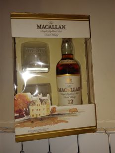 Macallan 12 years old sherry - set with 2 glasses - OB