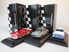 Minichamps - Scale 1/43 - Lot with 3 classic car racing models: Alfa Romeo, BMW & Ford