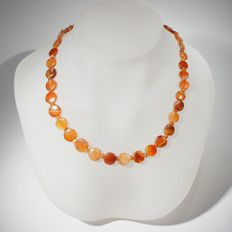 Necklace of discoid beads of carnelian. Bactrian l 50 cm
