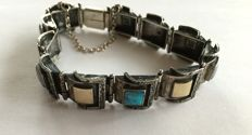 USA silver bracelet from the '40s/'50s, Pueblo tribe, high grade silver