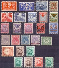 The Netherlands - Pre-war composition of stamps and series.
