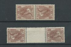 The Netherlands 1924 - Wilhelmina tête-bêches - NVPH 61b and 61c