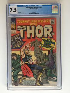 Marvel Comics - Journey Into Mystery / Thor #106 - CGC 7.5 graded - High Grade - 1x sc - (1964)