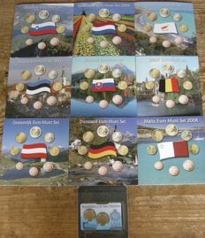 Europe - Various sets 2002/2011 (9 different sets), including San Marino