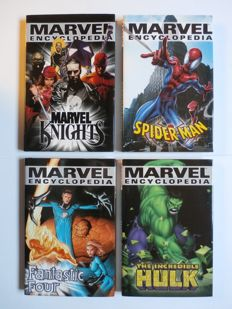 Marvel Encyclopedia 3-6 - Hulk, Spider-Man, Marvel Knights, Fantastic Four - 4x hc with Dust Jacket - 1st printing - (2003/2004)