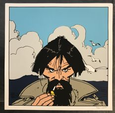 "Pratt, Hugo - Silk screen print - ""Rasputin"", first edition (1990)"