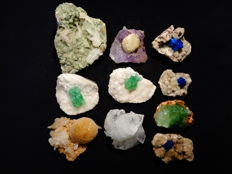 Zeolite group of 4 items  - 10 x 8 to 5.5 X 4.5 cm - 1200 gm