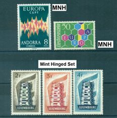 Europa 1956/1995 - Fine collection of 1.380 stamps and 42 minisheets