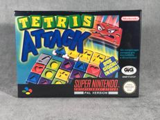 Súper Nintendo Game - Tetris Attack - PAL / EUR - Text on screen in English