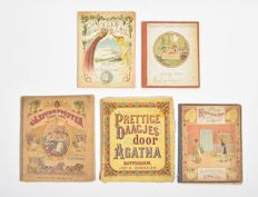 Youth; Lot with 5 illustrated children's books - late 19th / early 20th century