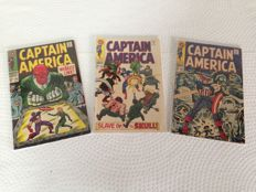 Captain America - Marvel Comics - Issues #103, #104 and #107 - 3x sc - (1968)