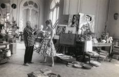Jerome Brierre - Picasso and Brigitte Bardot, in Picasso's House, 1956