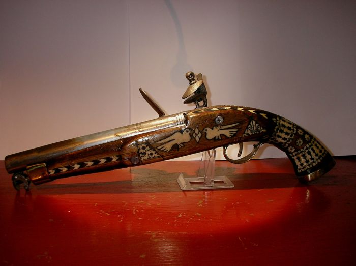 Fantastic and very unique 18th Century Ottoman Turkish Flint Pistol