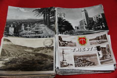 Lot of 400 + postcards from Italy, b/w only, 1940s/50s size 10x15