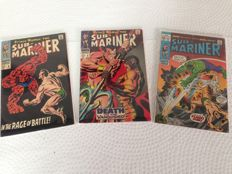 The Sub-Mariner - Marvel Comics - Issues #6, #8 and #34 - 3x sc - (1968/1971)
