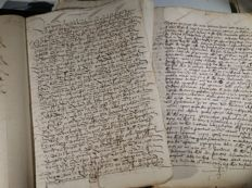 Manuscripts; Lot of 2 Spanish deeds of land sale in La Rioja - 1518/1570