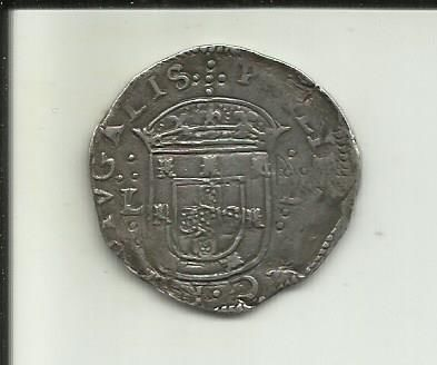 Portugal Monarchy – D. Filipe II ( 1598-1621 ) – Tostão (100 Reais) – Lisbon – Not Classified – Silver
