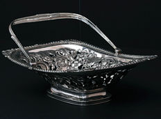 A fine George III silver swing-handle basket - late 18th/early 19th century