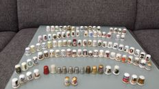 Collection of 103 thimbles
