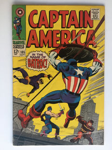 Marvel Comics - Captain America #105 - 1x sc - (1968)