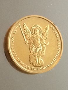 Ukraine - 2 Hryvni 2014 'Archangel Michael' - 1/10 oz Gold