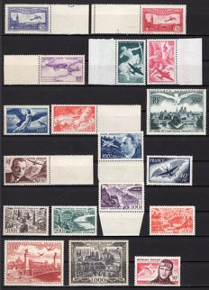 France 1930/1964 - Airmail collection - Yvert no. 5/7, 16/29, 34/41