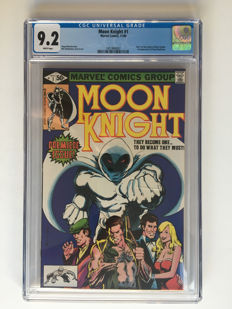 Marvel Comics - Moon Knight #1 - CGC 9.2 graded - High Grade! - part 1 of Origin of Moon Knight - 1x sc - (1980)