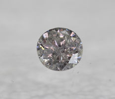 0.48 ct, H, I1, diamond brilliant * no reserve price * VG/VG/VG 5.08 x 4.95 x 2.93 mm