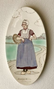 Zuid-Holland Gouda - Polychrome earthenware wall plate