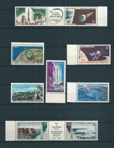 T. A.A. F. 1966/1971 – Lot of 12 Air Mail stamps - Yvert PA n°6, 11A, 12, 13, 14, 16A, 17, 20/24