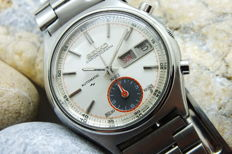 "SEIKO ""7016-8001"" Flyback Chronograph  - Men's Automatic Watch - Vintage Year 1984"