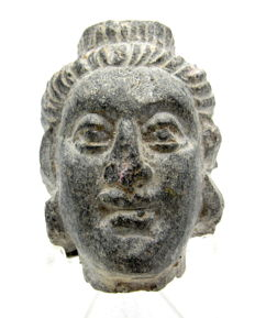 Ancient Gandhara Stone Statue's Head of Buddha  - 52mm
